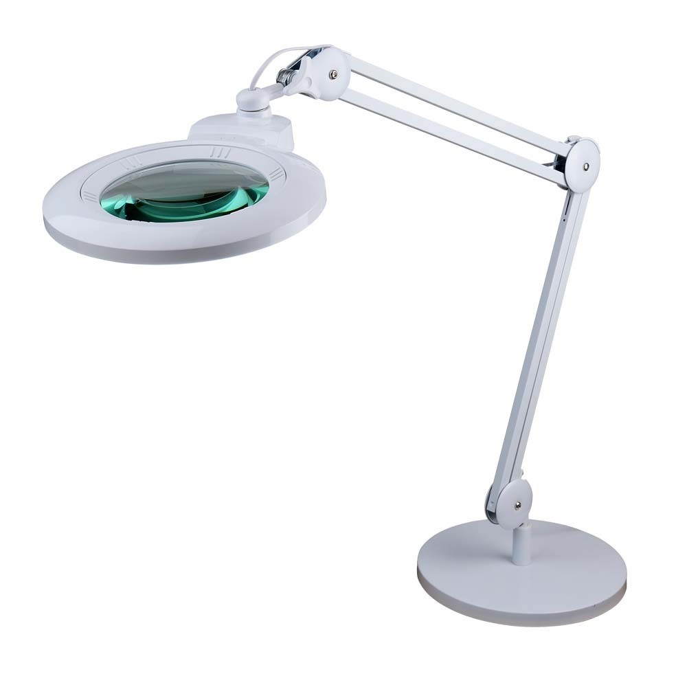 2 25x And 6x Long Reach Desk Stand Illuminated Magnifier