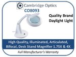 Bifocal Deskstand Daylight Illuminated Magnifier 1.75X/4X