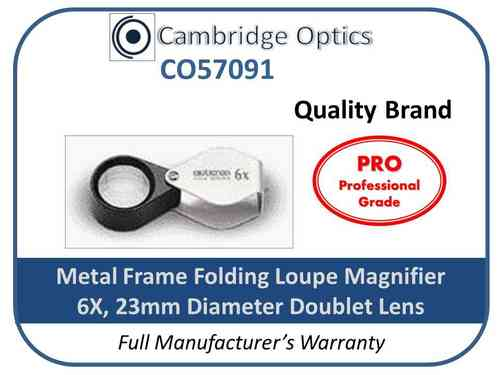 Handheld Loupe Magnifier 6X 23mm Chrome PRO
