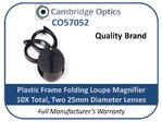 Handheld Dual Loupe Magnifier 10X 25mm Plastic