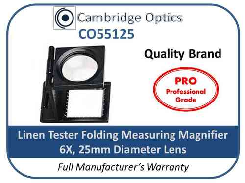 Linen Tester Magnifier 6X 25mm Single PRO