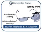 Clip-on, Flip-up 2.5X Magnifier PRO