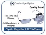 Clip-on, Flip-up 4.7X Magnifier PRO