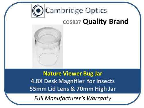 Nature Viewer Bug Jar Magnifier 4.8X 55mm Diam.