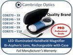 Illuminated Handheld Rechargable Magnifier 5X PRO