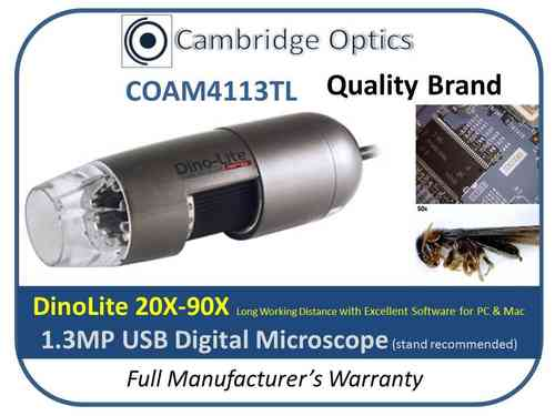 Digital Microscope 90X Long WD PRO 1.3MP