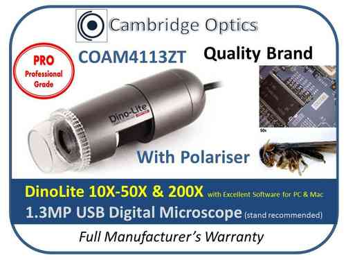 Digital Microscope 200X POL PRO 1.3MP