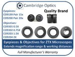 Pair 15X Eyepieces for ZTX Microscope