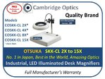 Dual Illuminated,  Industrial Desk Stand Magnifier 2X 130mm