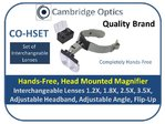 LED Binocular Head Magnifier Multiple Mags 1.2X, 1.8X, 2.5X, 3.5X