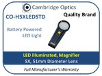 LED Handheld Magnifier 5X 51mm Diam.