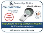 Illuminated  Handheld 3X Magnifier 75mm Diam. PRO