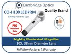 Illuminated Handheld Magnifier 10X 38mm Diam. PRO