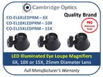 LED Illuminated Eye Loupe 6X 25mm Diam. PRO