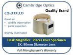 3X Illuminated Desk Magnifier 90mm Diam.