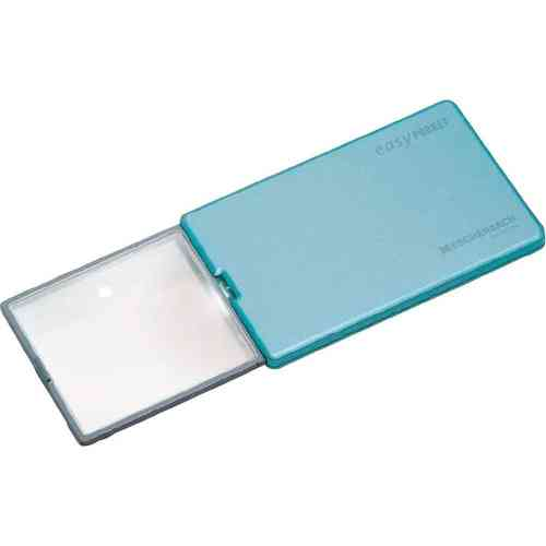 Eschenbach EasyPocket LED Pop-Up Handheld Credit Card Size Pocket Magnifier 4x mag 86x54x6mm-Blue