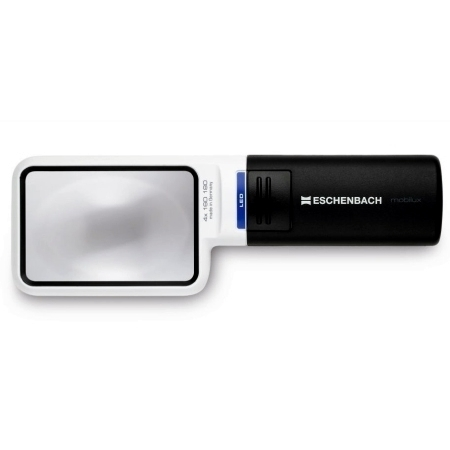 Eschenbach Mobilux LED Illuminated  Handheld 4X Magnifier 75x50mm Diameter.