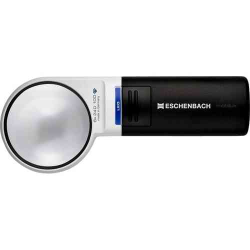 Eschenbach Mobilux LED Illuminated  Handheld 6X Magnifier 58mm Diameter.