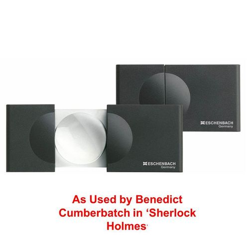Eschenbach Designo Handheld Sliding 5x Magnifier 30mm Diameter. As used by Sherlock Holmes !