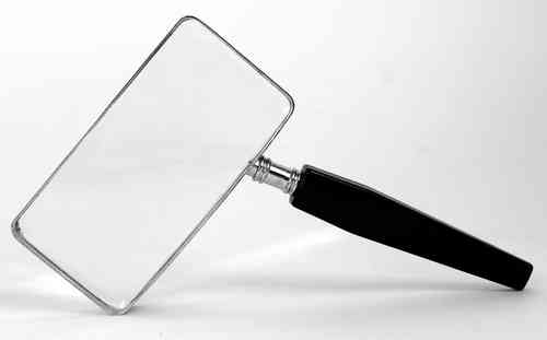 Handheld Magnifier 2XMagnification 50X100mm