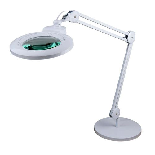 2.25X and 6X Long Reach Desk Stand Illuminated Magnifier - Super-Wide, Ultra Slim-High Brightness