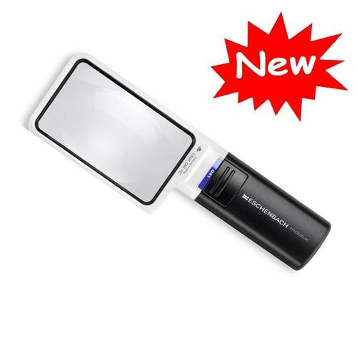 Eschenbach Mobilux LED Illuminated Handheld 3 x Magnifier HUGE 90 x 54 mm Rectangular Lens