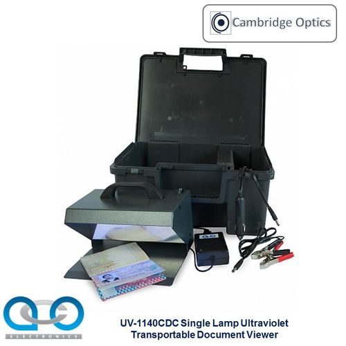 Single Lamp Transportable UV Document Viewer 1 x 9 watts - Forgery Detection, Forensic Examination