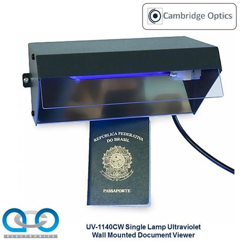 Single Lamp Wall Mounted UV Document Viewer 1 x 9 watts - Document Checks, Border Control