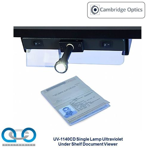 Single Lamp Under Shelf UV Document Viewer 1 x 9 watts - Forgery Detection, Border Security