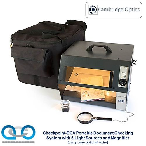 Economical Front Line Document Viewer. 5 Integral Light Sources - Forgery Detection, Border Security
