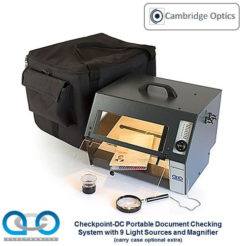 Checkpoint Front Line Document Viewer. 9 Integral Light Sources - Forgery Detection, Border Security
